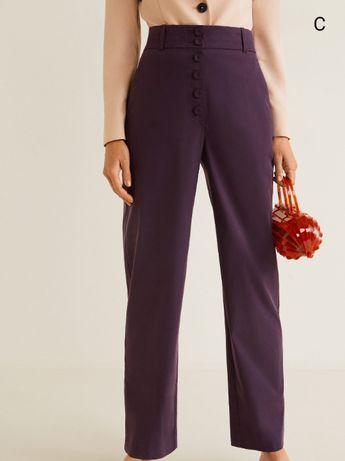 Новые прямые брюки mango с высокой посадкой (оригинал)