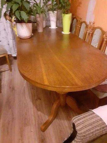 Stół  Drewniany + 10 Krzeseł