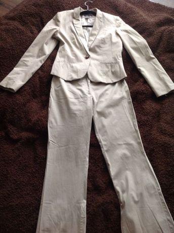 Komplet garsonka żakiet ze spodniami H&M 36 beż