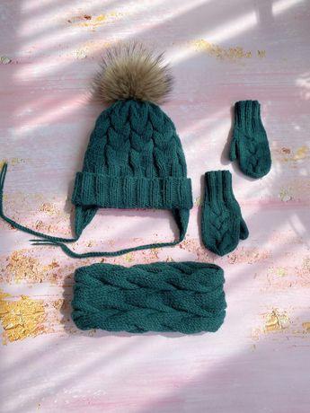 Набір зимова шапка 3-5 років