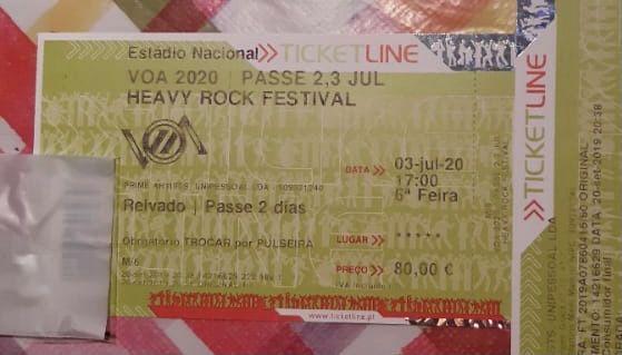 Bilhete VOA 2022 - Passe 2 dias