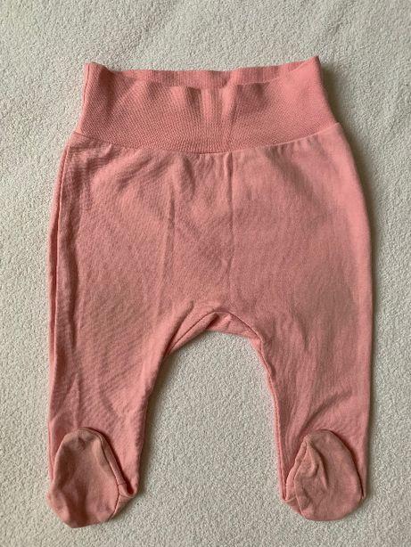 Розовые ползунки для девочки 3-6 мес 68 размер