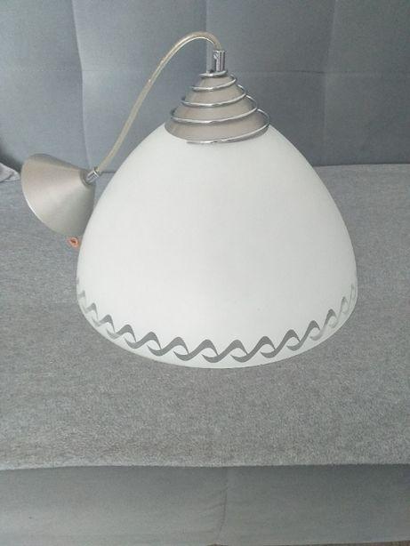 Lampa kuchenna biało-srebrna