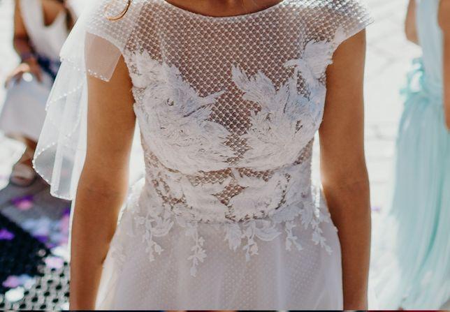 Suknia ślubna- VIOLA PIEKUT-szyta na miarę 34
