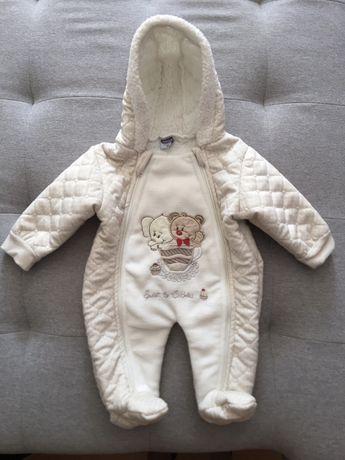 Тёплый комбинезон на малыша (подходит и для мальчика и для девочки)