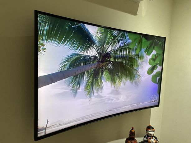 Smart tv Samsung 55 tela curva ultra4k