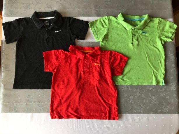 Koszulki z kołnierzykiem dla chłopca rozmiar 104