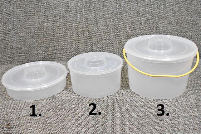 Podkarmiaczka Wiaderkowa 1,8L, 3L, 5L Okrągła z Pokrywą, Dokarmiacz