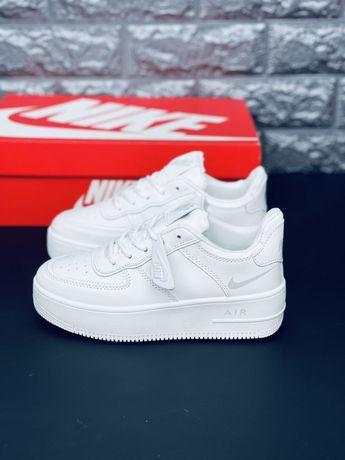 Кожаные кроссовки. Все размеры 35-46 Nike Air Force Af1 Скидка Найк