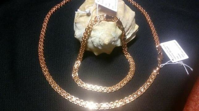 Медицинское золото позолоченная Цепочка браслет позолота,медзолото