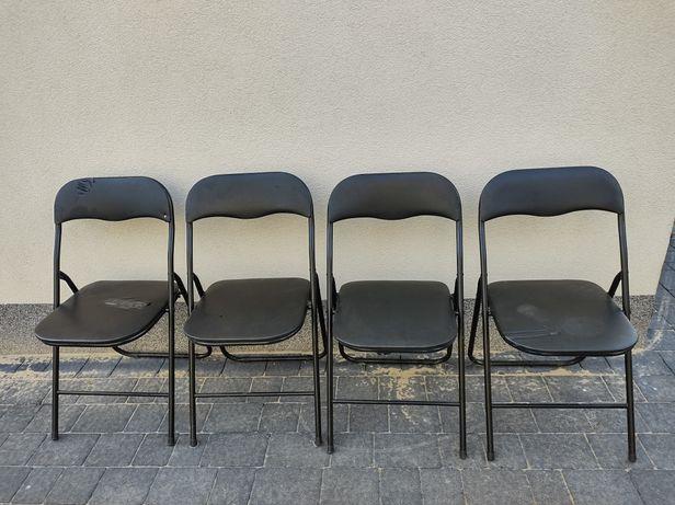 Kpl.4 szt. składanych krzeseł