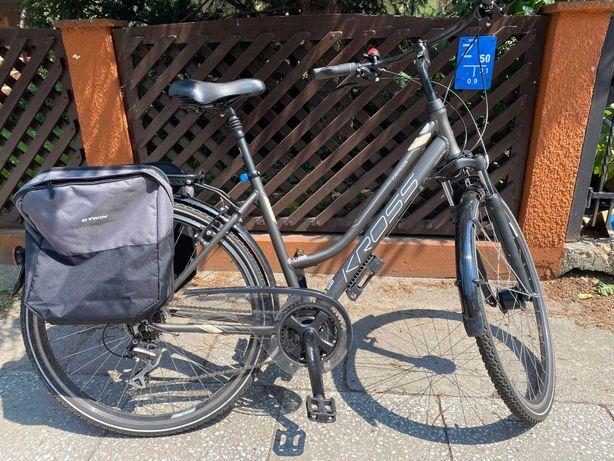 "Rower miejski Kross Trans 3.0 28"" rama L (gwar producenta) + dodatki"