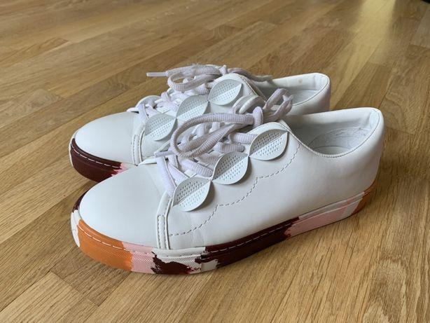 Білі кросівки Zara, 37 розмір, кеди