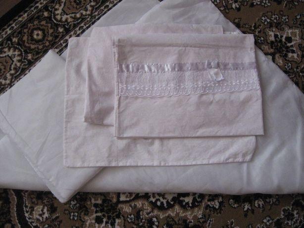 Комплект в кроватку + одеялко с подушкой для новорожденного