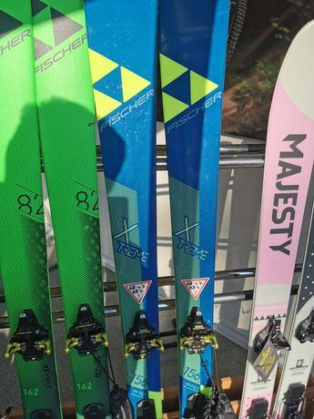 Narty skiturowe FISCHER 156cm + foki + wiązania