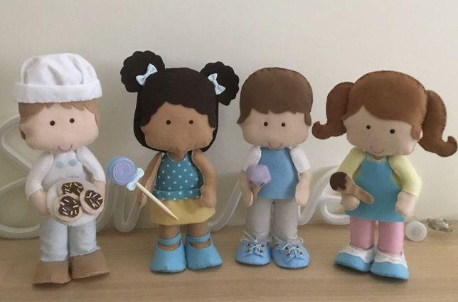 Bonecos pasteleiros em feltro