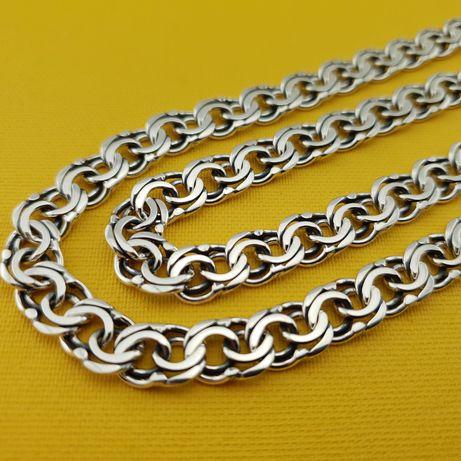 Крупная цепочка серебро. Ширина 9 мм. Мужская серебряная цепь. браслет