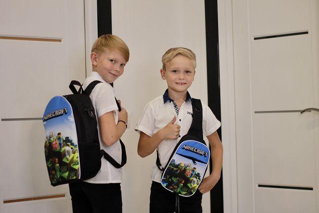 Майнкрафт рюкзак шкільний, міні рюкзак, пенал Minecraft