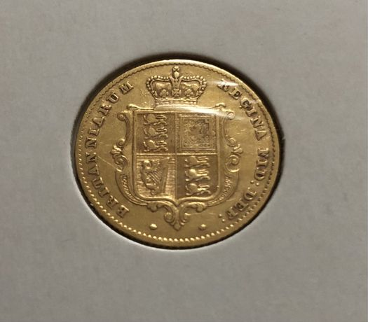 Meia libra de ouro brasão 1855