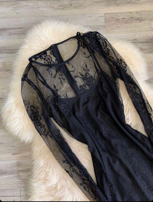 Классическое , чёрное платье , гипюр Днепр - изображение 1