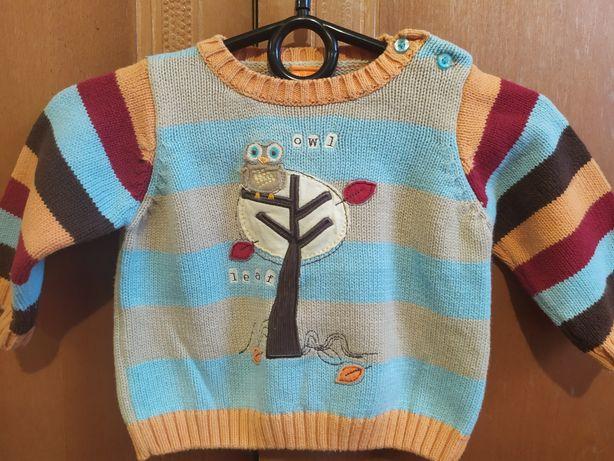 Вязанный свитерок для малыша на 3-6 месяцев