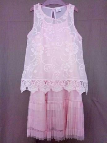 Платье нарядное летнее 140-146(10-11)