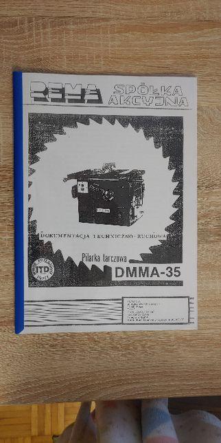 REMA DMMA-35 DTR dokumentacja techniczno-ruchowa katalog części