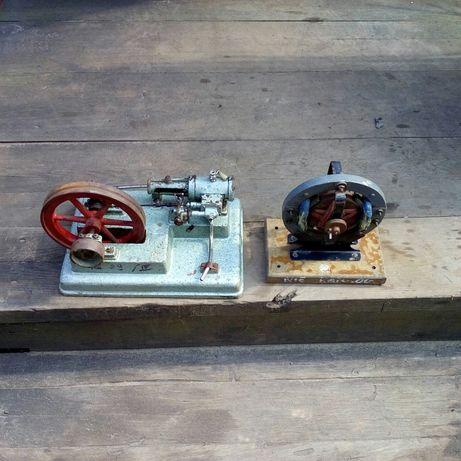 Model maszyny parowej oraz model silnika elektrycznego