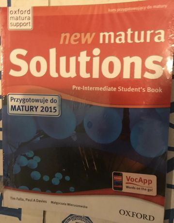 New Matura Solutions Pre-intermediate Oxford NOWY