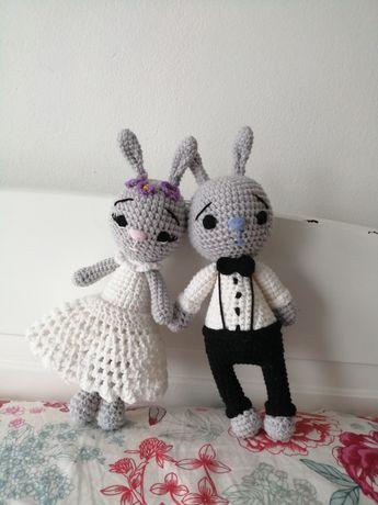 Maskotki królik na szydełku Amigurumi