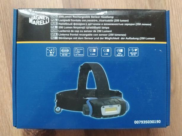 Latarka czołowa LED, akumulatorowa, mocna, czujnik zbliżeniowy, nowa