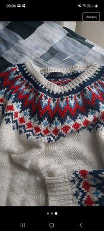 Sweter w norweski wzo
