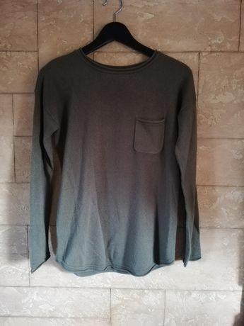Bluzka khaki Sinsay z długimi rękawami