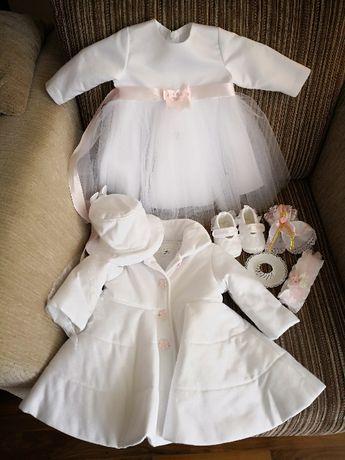 Komplecik do chrztu dla dziewczynki roz. 68