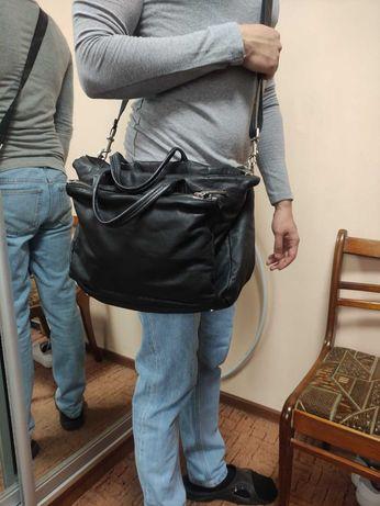 Marc O'Polo Портфель черная коричневая мужская сумка кожаная кожа