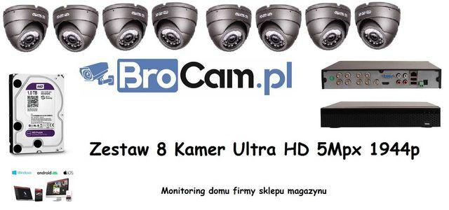 Zestaw 4-16 kamer 5mpx UltraHD kamery Montaż monitoringu Kamer Łochów