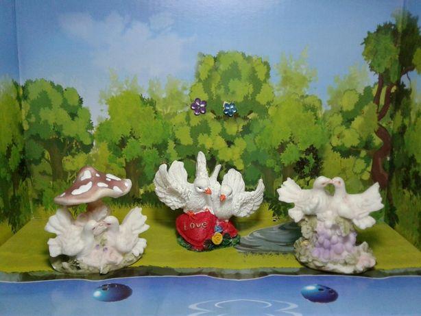 Набор 3 статуэтки голуби