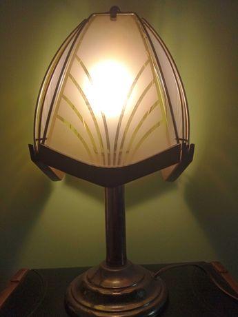 Stara mosiężna lampka nocna. 50 cm.