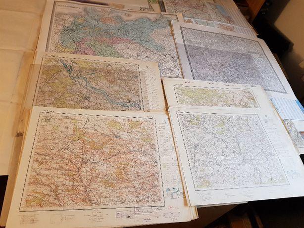 sprzedam stare, oryginalne mapy sztabowe i inne