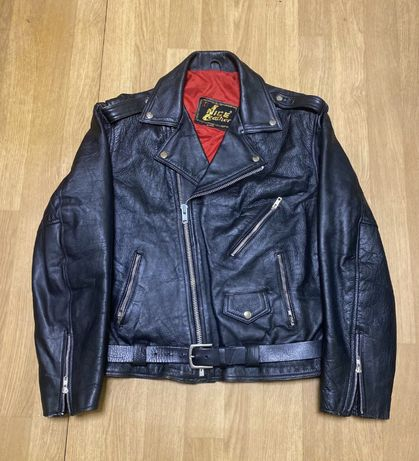 Schott nyc мужская косуха винтаж натуральная кожа avirex байкерская