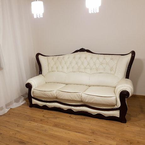 Kanapa i dwa fotele eco skóra wypoczynek