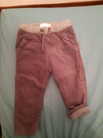 Spodnie sztruksowe Zara Baby