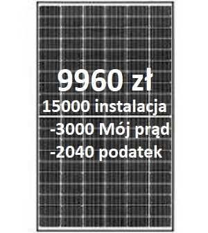Instalacja Fotowoltaiczna Fotowoltaika 3kWp 9960zł Mój prąd 3.0