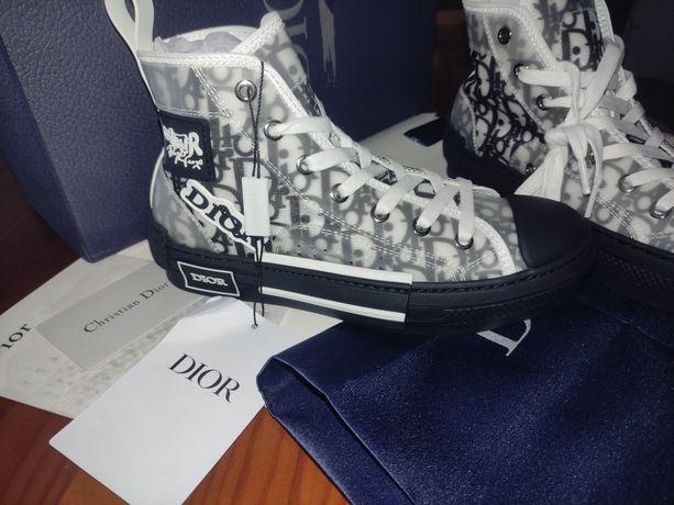 Sapatilhas Christian Dior B23 Oblique high Patch black