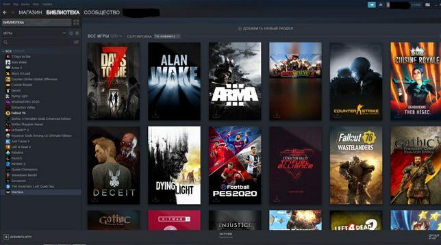 Steam аккаунт 25+ игр