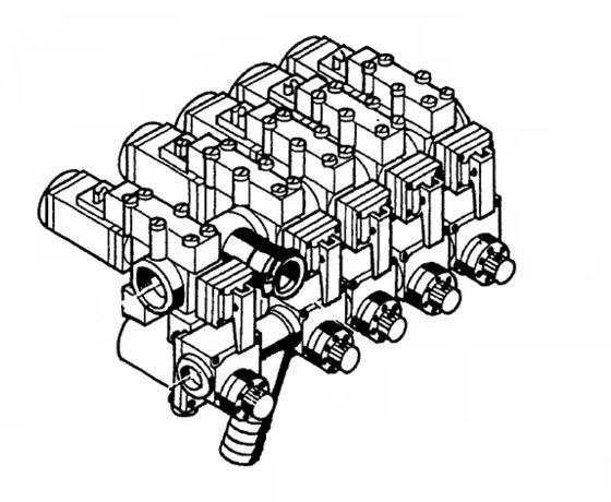 Blok elektrozaworów rozdzielacz zawór zawory RAU