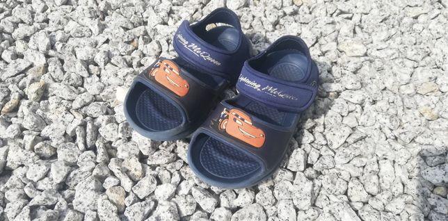 Sandałki chłopięce Auta roz 23 dł 14/14,5 cm