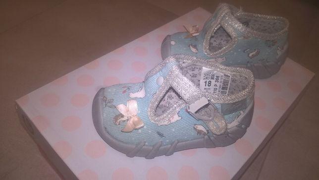 Pantofle Sandały BEFADO cena za 2 pary r. 18 i 19