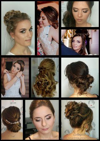 Stylizacja - makijaż ślubny + fryzura ślubna / upięcie z dojazdem