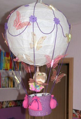 LAMPA BALON wróżka dla dziewczynki do pokoju+motylki+lalka ZA DARMO